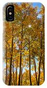 Tall Aspen With Sunstar IPhone Case