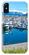 Tall Fireweed By The Marina Along Homer Spit-ak  IPhone Case