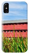 Tall Grass And Sachs Covered Bridge IPhone Case