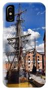 Tall Ship In Gloucester Docks IPhone Case