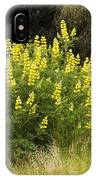Tall Yellow Lupin IPhone Case