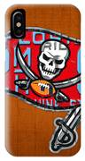 Tampa Bay Buccaneers Football Team Retro Logo Florida License Plate Art IPhone Case
