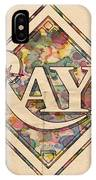 Tampa Bay Rays Vintage Art IPhone Case