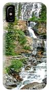 Tangle Falls Along Icefield Parkway In Alberta IPhone Case