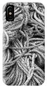 Tangled Rope And Lobster Fishing Gear On Dock Maine IPhone Case