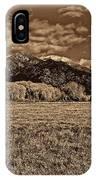 Taos Mountain In Platinum  IPhone Case