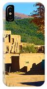 Taos Pueblo South In Autumn IPhone Case
