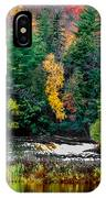 Taquamenon Lower Falls And Observation Deck. IPhone Case