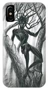 Tar Girl In A Tree IPhone Case