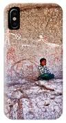 Tarahumara Boy In Painted Cave Near Chihuahua-mexico IPhone Case