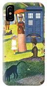Tardis V Georges Seurat IPhone Case