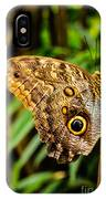 Tawny Owl Butterfly IPhone Case