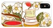 Tea Or Coffee Vector Background With IPhone Case