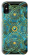 Teal Blue And Gold Celtic Cross IPhone X Case