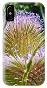 Teasel Thistle - Dipsacus Fullonum  IPhone Case