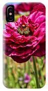 Tecolote Ranunculus Flowers By Diana Sainz IPhone Case