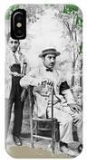 Ted Degrazia With  Uncle  Gregorio Circa 1920's-2013 IPhone Case