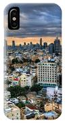 Tel Aviv Skyline Winter Time IPhone Case