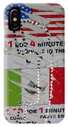 Telephone  Usa Mexico One Dollar Four Minutes Booth Us Mexico Flags Eloy Arizona 2005 IPhone Case