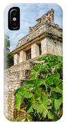 Temple And Foliage IPhone Case