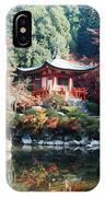 Temple Behind A Pond, Daigo-ji Temple IPhone Case