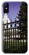 Temple Of Idaho Falls IPhone Case