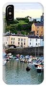 Tenby Harbour Panorama IPhone Case