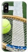 Tennis - Wooden Tennis Racquet IPhone Case