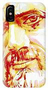 Terence Mckenna Watercolor Portrait.2 IPhone Case