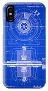 Tesla Alternating Electric Current Generator Patent 1891 - Blue IPhone Case