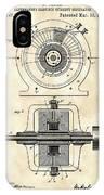 Tesla Alternating Electric Current Generator Patent 1891 - Vintage IPhone Case