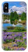 Teton Spring Lupines IPhone Case