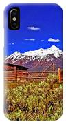 Tetons - Gambrel Barn And Fence Panorama IPhone Case