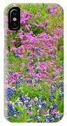 Texas Bluebonnets And Wildflowers IPhone Case