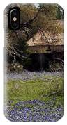 Texas Bluebonnets With Old Abandoned Shack IPhone Case