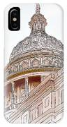 Texas Capitol Sketch IPhone Case