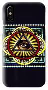 Eye Of Providence Texas Church Window IPhone Case