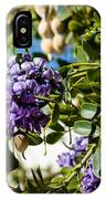 Texas Mountain Laurel Sophora Flowers And Mescal Beans IPhone Case