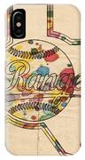 Texas Rangers Logo Vintage IPhone Case
