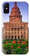 Texas State Capitol Summer Morning - Austin Texas IPhone Case