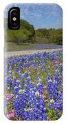 Texas Wildflowers Images - Bluebonnets 2 IPhone Case