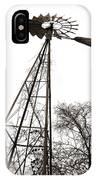 Texas Windmill 2 IPhone Case