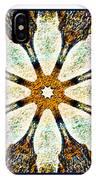 Textured Flower Kaleidoscope Triptych IPhone Case