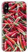 Thai Chili Peppers Background IPhone Case