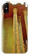Thai-kmer Pagoda Columns At Grand Palace Of Thailand In Bangkok IPhone Case