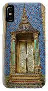 Thai-kmer Pagoda Window At Grand Palace Of Thailand In Bangkok IPhone Case
