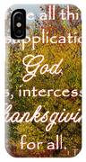 Thanksgiving 1 Timothy 2 IPhone Case