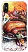 Thanksgiving Autumnal Collage IPhone Case