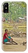 Tharu Farming Village Landscape-nepal IPhone Case