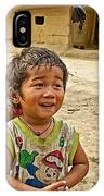 Tharu Village Children Love To Greet Us-nepal- IPhone Case
